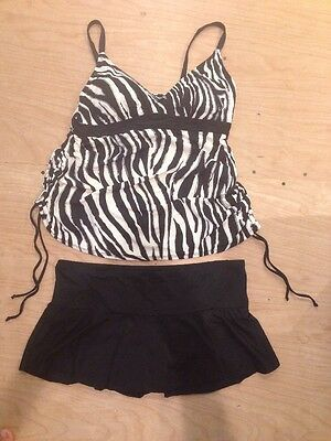 Liz Lange Maternity Swim Suit Tankini Two Piece Size M