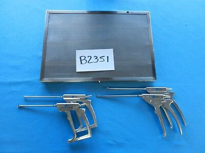Dyonics Surgical Arthroscopic Suction Punches Lot Of 4 W/ Case