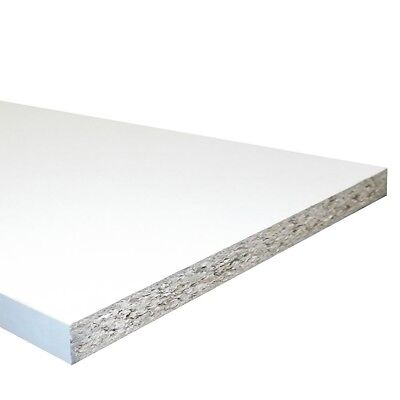 """White Melamine Faced Chipboard Conti Board 150mm (6"""") 4ft Shelves Cupboards"""