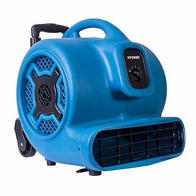 XPOWER P-830H 1 HP Commercial Air Mover Restoration Dryer Fan w/ Handle & Wheels