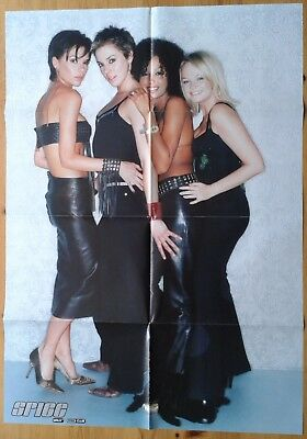 Spice Girls Fan Club fold out double sided poster, colour