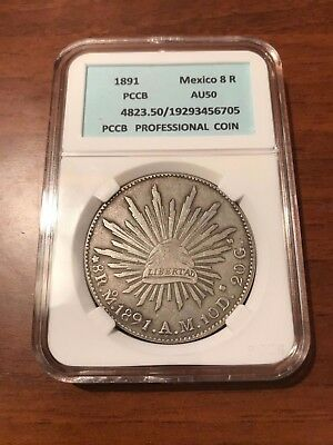 Coin 8 Reales 1891 . Mexico
