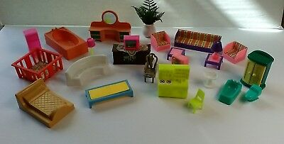 Vintage Lot of Miniature Dollhouse Furniture and Accessories 25 Piece