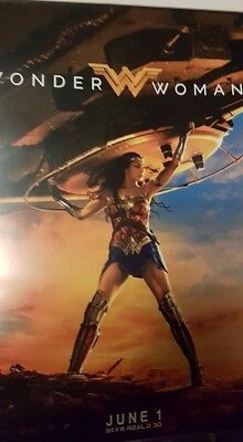 Wonder Woman Cinema Poster Gal Gadot DC Comics Justice League