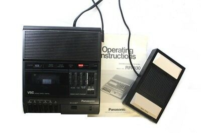 Panasonic RR-830 Standard Cassette Tape Transcriber with RP-2692 Foot Pedal