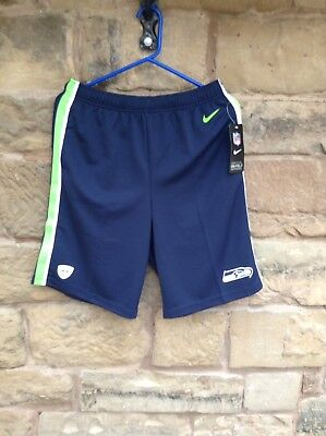 Brand New With Tags NFL Nike On Field Seattle Seahawks Dri-Fit Shorts XL Kids