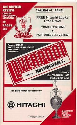 1979/80      Liverpool    v    Nottingham Forest      MINT      LC S/F