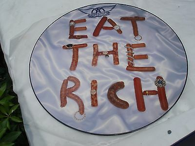 """Aerosmith Eat the Rich/Fever/Head First 12"""" Nr Mint Picture Disc Record 1993"""