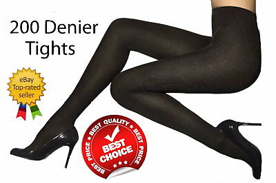 Women Luxury 200 Denier Tights Soft Thick Winter Lovely Warm Wool Tights New