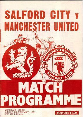 1992/93 / 1988/89    Salford City / Hednesford Town    v    Manchester United