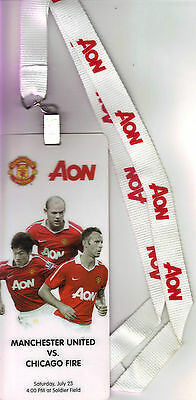 2011/12    Chicago Fire    v    Manchester United    VIP Lanyard