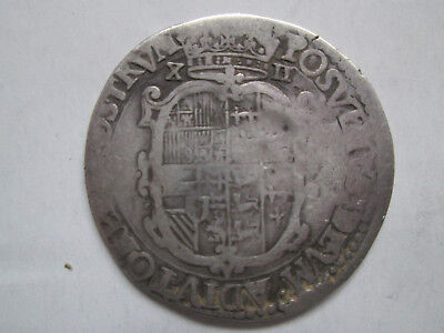 Rare Large Hammered 1554-1558 Philip and Maria Silver Shilling .