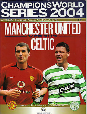 2004    Manchester United    v    Glasgow Celtic  in Philadelphia    MINT