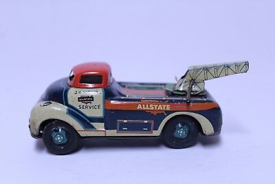 Vintage Line Mar Marx Toys Tin Friction Japan 24 Hour Allstate Tow Wrecker Truck