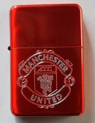 Manchester United Red Lighter - Idea Gift - Free Engraving, Birthday, Christmas