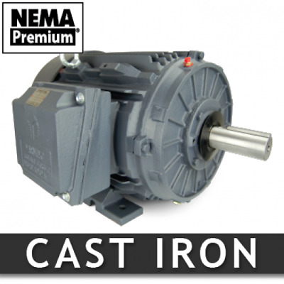 10 hp electric motor 215t 3600 rpm 3 phase severe duty NEMA Premium 3 yr warrnty