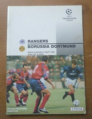 Rangers v Borussia Dortmund, 1995/96 - Champions League Group Stage Programme