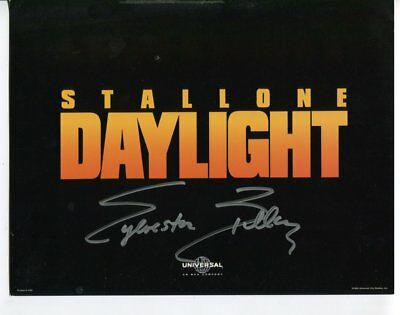 SYLVESTER STALLLONE autograph SIGNED 5449