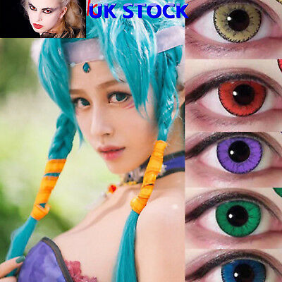 UK SELLER& Coloured Contact Lenses Crazy Halloween Cosmetic Makeup Cosplay lens