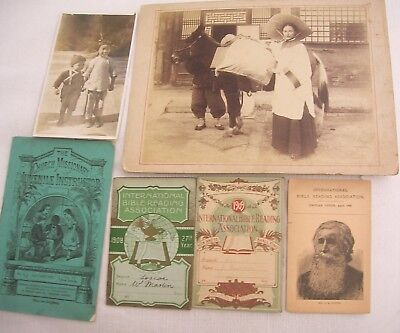 Large Original Photo Miss Shackleton Chinese Missionary Interest C 1900 Etc