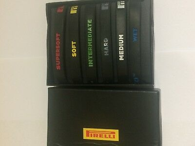 Brand New Set of 6 Pirelli Formula one F1 Rubber (Tyre) Wristbands