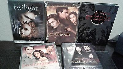 Twilight Saga: The Complete Collection  All 5 DVD Sets