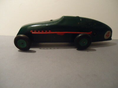 Triang Minic Tinplate Clockwork Racing Car  - Original / Playworn