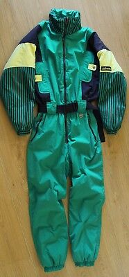 1980's RETRO GREEN/YELLOW CAMPRI GENTS SKI SUIT - EXCELLENT CONDITION