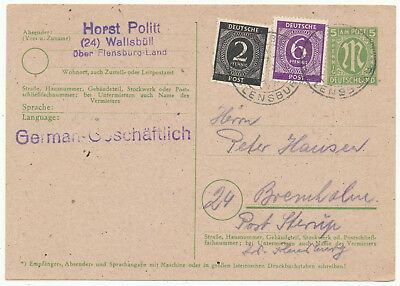 "Germany Bizone ""am Post"" Postal Card # P 904 Uprated (1946)"