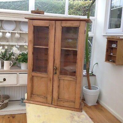 Very Lovely Old Pine Display Cabinet