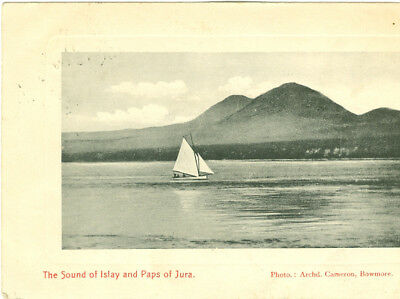Vintage postcard.The Sound of Islay and Paps of Jura.