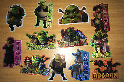 300 Beaver Flat Pak Pack Vending Machine Shrek 2 Stickers Party Bag