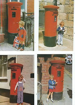 4  Postcards  Postboxes With Children