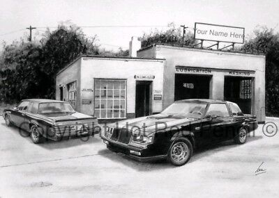 Buick Grand National PERSONALIZED garage art print