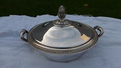 Christofle Malmaison. Beautiful Silverplated vegetable tureen serving dish lid.