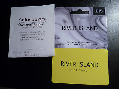 15 pound river island gift card