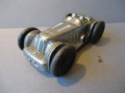 Vintage Gaiety Toys / Castle Art Racing Car - Clockwork / Finished In Chrome