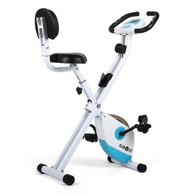 White & Blue Exercise Bicycle Home Fitness Bike Trainer Gym Heart Rate Computer