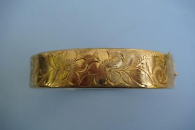 9ct gold metal core bangle