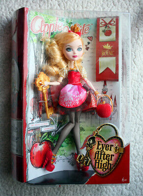 EVER AFTER HIGH Doll, APPLE WHITE (Daughter SNOW WHITE BLANCANIEVES, MUÑECA) BN!
