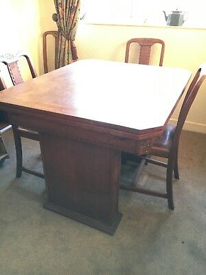 Antique Dining Table with 4 Chairs and sideboard