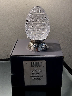 Waterford Annual 1st Edition Crystal Egg 1990