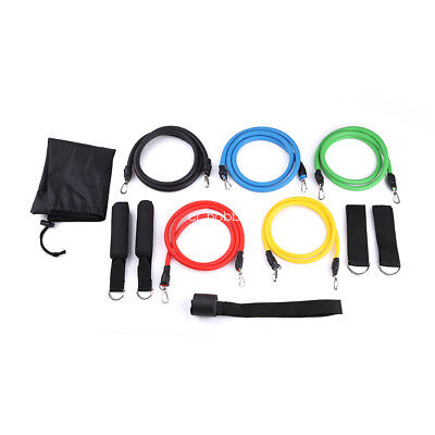 11pcs/Set Latex Resistance Bands Workout Exercise Pilates Yoga Fitness Rull Rope