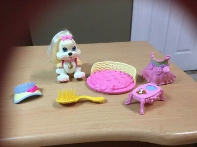 Fisher Price  Snap n Style  DOG Ginger Shih-Tzu Puppy & clothes , bed ,brush lot