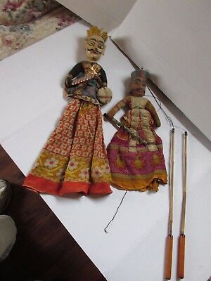 Marionettes Antique Hand Carved Large Burmese Asian
