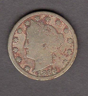 US 1883 With Cents Liberty V Nickel Coin in VG Very Good Condition