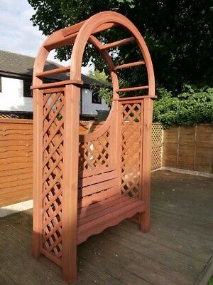 Wooden arbour garden bench seat, very heavy, Immaculate Condition