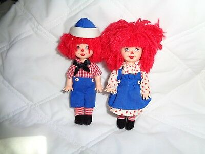 Barbie's little sister and brother as Raggedy Ann and Andy