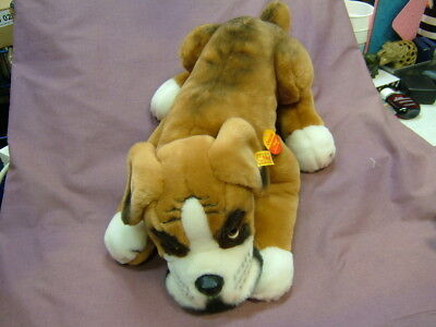111 Steiff Original Bobby Boxer Dog pre owned in excellent condition with tags