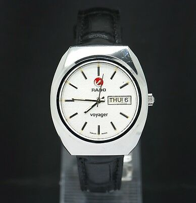 Rado Voyager Vintage 1980's White Dial Automatic 25 Jewels Men's Watch